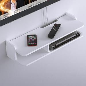 客廳置物架 電視機頂盒置物架免打孔路由器收納盒墻上墻壁掛客廳臥室裝飾掛架 生活主義