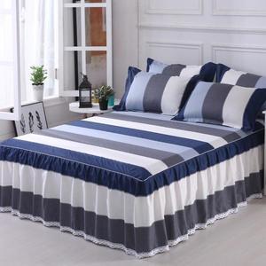 【限時下殺89折】床裙 棉質床裙式床罩單件保護防塵防滑床套床單1.8m米1.5全棉1三件組2