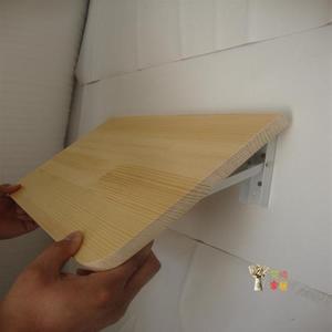 壁掛桌 可摺疊置物架廚房免打孔掛牆桌一字隔板壁掛桌牆壁上摺疊桌實木T