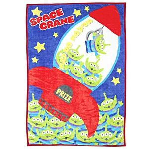 丸真 DISNEY 玩具總動員 兒童用單人毛毯M 三眼怪夾娃娃機_RS65849