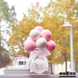 香薰瓶款 汽車擺件 告白氣球 車內 可愛 創意 個性 裝飾 車載 中控臺 儀表臺 香水氣球