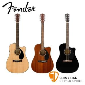 FENDER CD-60SCE 可插電41吋  單板民謠吉他 內建調音器 另贈送琴袋【電民謠吉他/CD60SCE】
