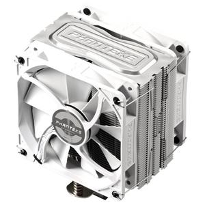 Phanteks 追風者PH-TC12DX雙風扇溫控白色版6毫米銅熱管電腦水冷CPU散熱器