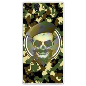 ✿ 3C膜露露 ✿ {迷彩骷髏*水晶硬殼} Sony Xperia Z /L36H / C6602手機殼 手機套 保護套 保護殼