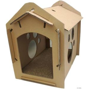 紙箱DIY貓屋帶抓板 貓玩具 貓屋貓抓板瓦楞紙抓板 3C優購HM