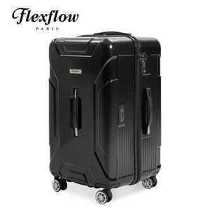 Flexflow 南特系列 法國精品智能秤重 原色黑  29吋 防爆拉鍊 旅行箱 行李箱 運動版 胖胖箱 特務箱
