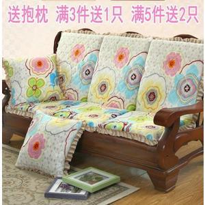 實木沙發坐墊 聯邦椅帶靠背紅木沙發墊子電腦椅墊帶後背  星空小鋪