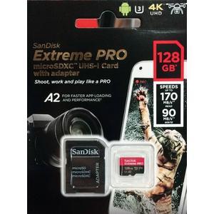 Sandisk Extreme Pro microSDXC 128Gb 170MB/s V30 U3 A2 4K TF 含轉卡 【公司貨 終身保固】