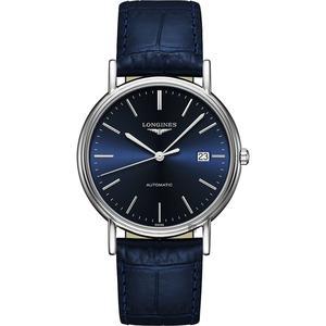 LONGINES浪琴 Presence 經典機械錶-紳士藍/38.5mm L49214922
