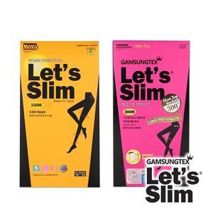 【Let's Slim】150M+300M壓力加絨提臀瘦腿襪(韓國原裝進口)(黑色)
