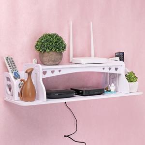 路由器收納盒置物架電視墻上壁掛WIFI盒子電線整理免打孔機頂盒架【博雅生活館】