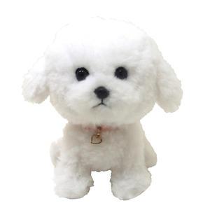 日本PUPS可愛玩偶 比熊 仿真小狗 絨毛娃娃毛絨玩具狗聖誕節禮物狗雜貨生日禮物兒童小孩送禮