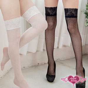 大腿襪 白/黑 蕾絲網襪 自信誘惑 素色蕾絲膝上襪絲襪 天使甜心Angel Honey