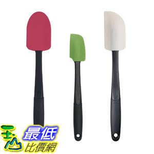 [106美國直購] OXO 1238580 矽膠刮刀(三入) Good Grips 3-Piece Silicone 烘焙 麵糊 麵糰 攪拌 烤箱 烤盤
