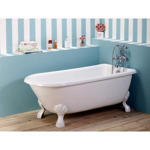 【台灣吉田】8686-840 古典造型貴妃獨立浴缸/空缸 按摩浴缸 壓克力材質130cm