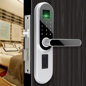 家用室內門指紋鎖臥室實木門鎖辦公室球形房間智慧鎖電子門密碼鎖 最後一天85折