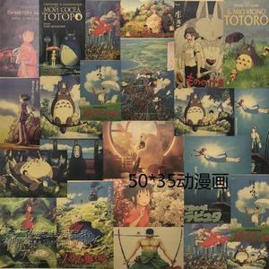 日本浮世繪裝飾畫復古懷舊牛皮紙海報墻貼和風仕女壁畫榻榻米掛畫 YL-LPH145