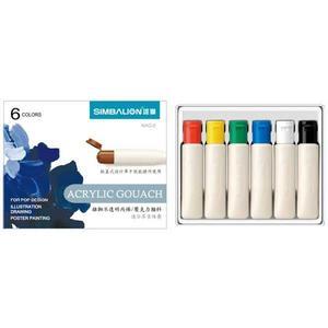 【雄獅】壓克力顏料-12ml管裝紙盒(6色組)
