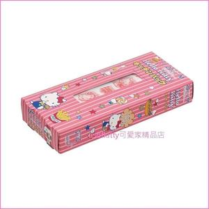 asdfkitty可愛家☆KITTY 盒裝塑膠袋/點心袋/包裝袋-裝麵包.餅乾.糖果-日本製