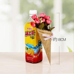 [超豐國際]報紙薰衣草裝飾品仿真花假花玫瑰花小花束裝飾花網店1入