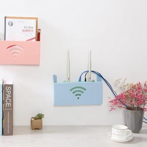 天天新品路由器收納盒無線wifi機頂盒子壁掛式架子墻上免打孔置物支架客廳