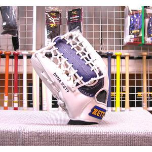 「野球魂中壢店」--「ZETT」特別訂製棒球壘球手套(外野手,39SP0239,深藍×白色,牛舌檔)反手