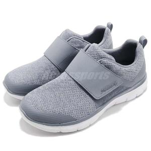 Skechers 慢跑鞋 Flex Appeal 2.0 Step Forward 灰 白 無鞋帶 魔鬼氈 女鞋 運動鞋【PUMP306】 12898SLT