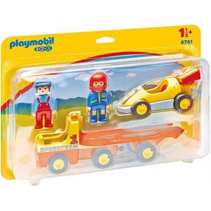 摩比積木 playmobil 123 拖車與賽車