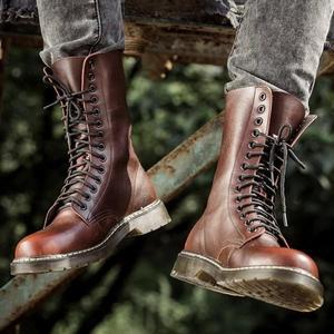 馬丁靴男英倫皮靴加絨高筒軍靴男防水長筒靴子男士潮流馬丁鞋 果果輕時尚