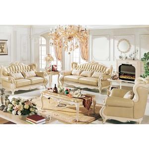 【大熊傢俱】A21B玫瑰系列 歐式 皮沙發 布沙發  多件沙發組 絨布沙發歐式沙發 美式皮沙發