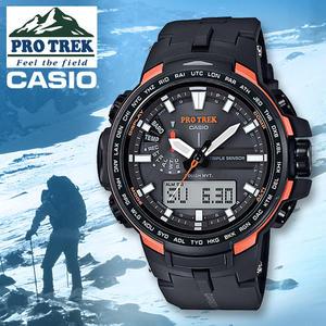 CASIO 卡西歐 手錶專賣店 PROTREK  PRW-6100Y-1D R 男錶  雙顯錶 碳纖維橡膠錶帶  太陽能電力
