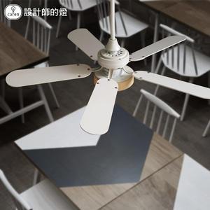 風扇燈 美式復古吊扇燈北歐簡約客廳餐廳燈家用臥室LED風扇燈  mks阿薩布魯