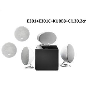 《名展影音》福利品 ~ 英國 KEF E305 5.1家庭劇院喇叭組   (E301+E301C+KUBE8+Ci130.2cr)