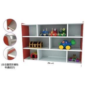 【兒童 書 桌 椅 教具 家具】馬卡龍8格櫃(紅)