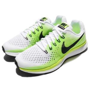 【六折特賣】Nike 慢跑鞋 Air Zoom Pegasus 34 GS 白 黃 輕量緩震 運動鞋 女鞋 大童鞋【PUMP306】881953-100