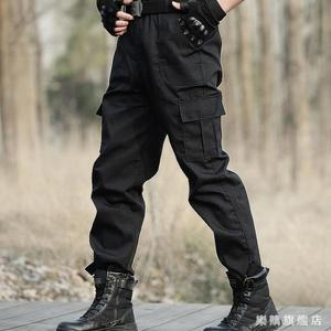 黑色特種兵作訓褲男秋季運動戰術褲女耐磨作戰褲透氣寬鬆工裝褲