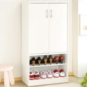 Hopma 雙門六格鞋櫃-時尚白