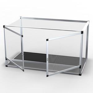 爬寵飼養箱陸龜箱刺猬蜥蜴蛇爬蟲寵物箱鋁合金拼接網箱保溫爬箱 時尚教主