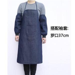 圍裙 牛仔圍裙工作圍裙勞保電焊成人男女韓版時尚廚房餐廳耐磨帆布圍裙【雙11快速出貨八折】