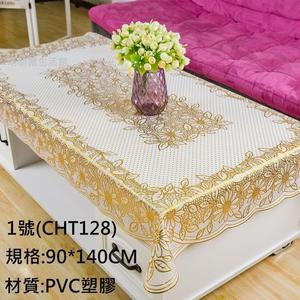 歐式燙金PVC塑膠桌巾.90*140CM茶几墊.萌萌豬生活館