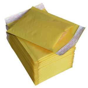 包裝袋黃色牛皮紙氣泡信封袋防震防水泡泡袋小包加厚文件泡沫袋 萬客居