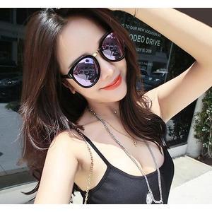 太陽眼鏡墨鏡女潮圓臉長臉大框網紅粉色眼睛大臉有度數偏光太陽鏡女 歐美韓