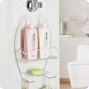 浴室置物架 創意浴室花灑掛籃衛生間洗發水沐浴露浴置物架LJ8015『黑色妹妹』