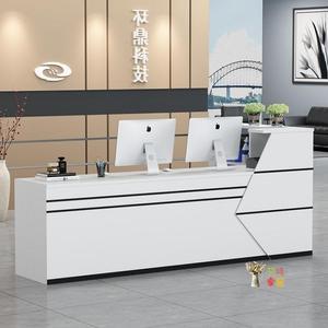 接待台 收銀台前台接待台公司酒店吧台櫃簡約現代超市電腦大氣吧台桌T 多色