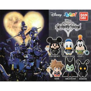 全套6款【日本正版】迪士尼 王國之心 Q版造型公仔 扭蛋 轉蛋 Kingdom Hearts BANDAI - 333555