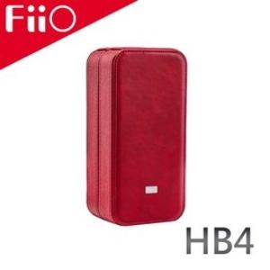 FiiO HB4 皮革質感耳機/播放器攜行盒-防滑耐磨材質/強力減震/磁吸設計/優質絨布內襯