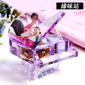 創意水晶鋼琴音樂盒 MP3機芯 任意下載歌曲 情人節禮物   【緣味站】YW-3406
