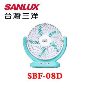 【SANLUX 台灣三洋】8吋 USB可攜式 DC循環電風扇 SBF-08D