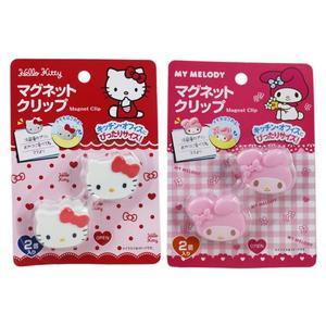 【卡漫城】 造型 磁鐵夾 二款選一 ㊣版 每款二入 Hello Kitty 美樂蒂 My Melody 磁力 冰箱留言