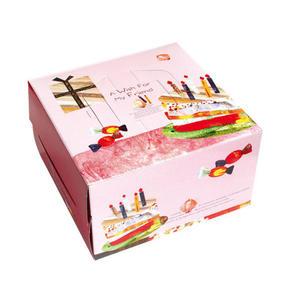 {生日派對}6吋手提布丁盒組(附銀盤) 蛋糕盒 (50入/組)